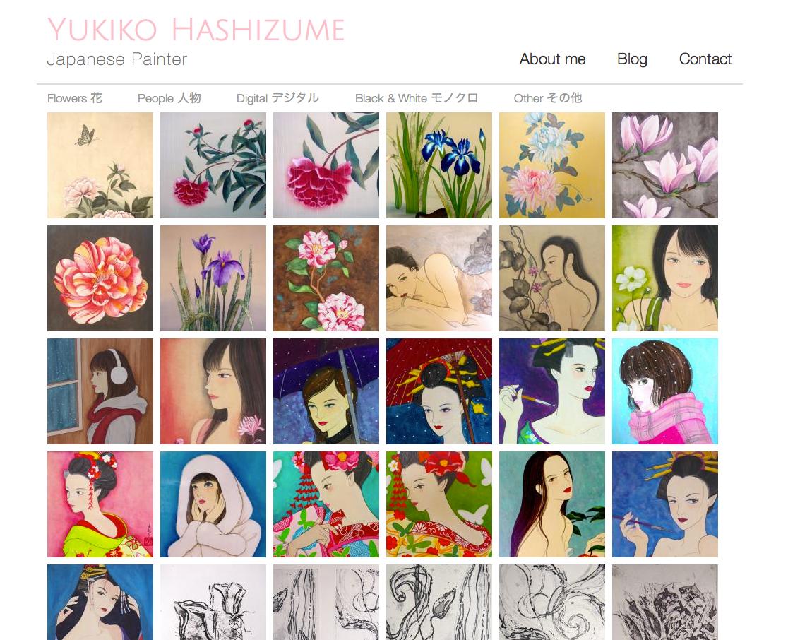 Yukijapon.com - Yukiko Hashizume Japanese Painter